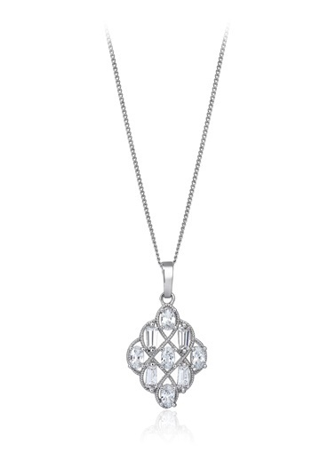 2,70 Ct Pırlanta Efekt Altın Hiedra Kolye-Tophills Diamond Co.